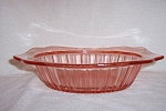 Click here to enlarge image and see more about item CM361: PINK ADAM DEPRESSION OVAL VEGETABLE BOWL