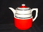 Click here to enlarge image and see more about item CM602: RED HALL LARGE SIZE TERRACE COFFEE POT
