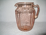 Click here to enlarge image and see more about item CV002: PINK MAYFAIR DEPRESSION LARGE  PITCHER