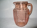 Click here to enlarge image and see more about item CV003: PINK MAYFAIR DEPRESSION WATER  PITCHER