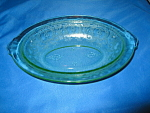 Click here to enlarge image and see more about item CV032: GREEN HORSESHOE OVAL VEGETABLE BOWL