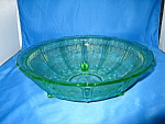 Click here to enlarge image and see more about item CV041: GREEN CHERRY BLOSSOM 3 FOOTED FRUIT BOWL