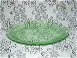 Click to view larger image of GREEN FLORAL POINSETTIA OVAL PLATTER (Image1)