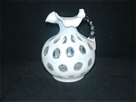 Click here to enlarge image and see more about item CZ525: FENTON FRENCH OPALESCENT COIN DOT HANDLED JUG