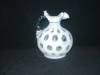 Click to view larger image of FENTON FRENCH OPALESCENT COIN DOT HANDLED JUG (Image2)