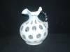 Click to view larger image of FENTON FRENCH OPALESCENT COIN DOT HANDLED JUG (Image3)