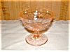 Click here to enlarge image and see more about item G065: PINK PRINCESS SHERBET GLASS