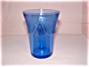 Click here to enlarge image and see more about item G194: COBALT ROYAL LACE JUICE TUMBLER