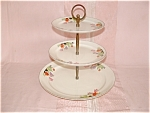 Click here to enlarge image and see more about item G299: HALL CROCUS 3 TIER TIDBIT TRAY