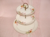 Click to view larger image of HALL CROCUS 3 TIER TIDBIT TRAY (Image2)
