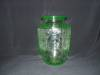Click here to enlarge image and see more about item G306: GREEN PRINCESS DEPRESSION VASE