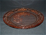 Click here to enlarge image and see more about item G314: PINK SHARON DEPRESSION DINNER PLATE