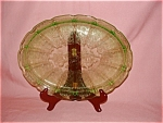 Click here to enlarge image and see more about item G350: GREEN CHERRY BLOSSOM LARGE SERVING PLATTER