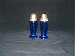 Click here to enlarge image and see more about item G459: COBALT MODERNTONE SALT & PEPPER