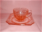 Click here to enlarge image and see more about item G480: PINK ADAM DEPRESSION CUP & SAUCER