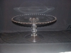 Click here to enlarge image and see more about item G502: CANDLEWICK TALL CAKE STAND