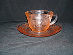 Click here to enlarge image and see more about item G504: PINK DOGWOOD DEPRESSION CUP & SAUCER