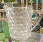 Click here to enlarge image and see more about item G531: AMERICAN FOSTORIA STRAIGHT SIDED PITCHER