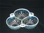 Click here to enlarge image and see more about item G735: MOONSTONE CLOVERLEAF 3 SECTION BOWL