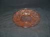 Click here to enlarge image and see more about item G801: PINK CHERRY BLOSSOM DEPRESSION SHERBET PLATE