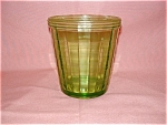 Click here to enlarge image and see more about item G825: GREEN BLOCK OPTIC ICE BUCKET
