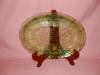 Click here to enlarge image and see more about item G830: GREEN CHERRY BLOSSOM SMALL SERVING PLATTER