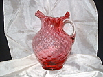 Click here to enlarge image and see more about item GR140: FENTON RUBY OVERLAY DIAMOND OPTIC #1353 70 oz