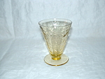 Click here to enlarge image and see more about item GR169: AMBER MADRID 5 oz FOOTED TUMBLER