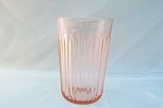 Click here to enlarge image and see more about item GR251: PINK LACE EDGE FLAT WATER TUMBLER