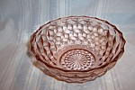 Click here to enlarge image and see more about item GR279: PINK CUBE STRAIGHT EDGE SALAD BOWL
