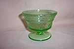 Click here to enlarge image and see more about item GR289: GREEN PATRICIAN DEPRESSION SHERBET