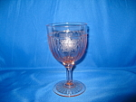 Click here to enlarge image and see more about item GR316: PINK MAYFAIR WATER GOBLET