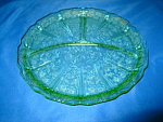 Click here to enlarge image and see more about item GR917: GREEN CHERRY BLOSSOM GRILL PLATE