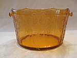 Click here to enlarge image and see more about item GRBR14: AMBER CLEO SCALLOPED ICE BUCKET