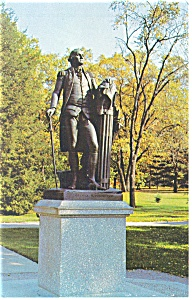 Valley Forge PA Washington Statue Postcard P13509 (Image1)