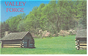 Valley Forge,PA,Dogwoods and Soldiers Huts Postcard p13510 (Image1)