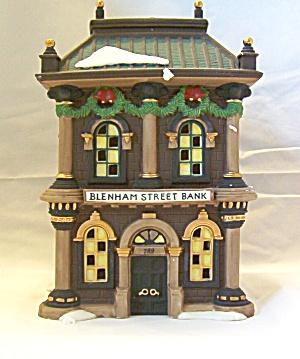 Blenham Street Bank  Dickens Village Dept. 56 Issued 1995 (Image1)