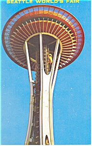 Seattle World s Fair Eye of the Needle Postcard p10998 1962 (Image1)