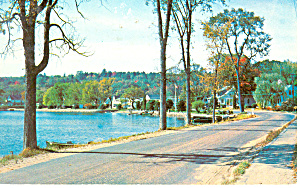Water Landscape,lake Winnipesaukee,nh Postcard 1960