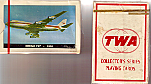 Deck of TWA 747 Playing Cards Sealed in Box (Image1)