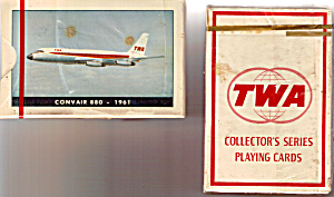 Deck Of Twa Convair 880 Playing Cards Sealed In Box