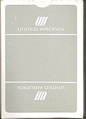 United Airlines Playing Cards-Grey Box Box- Mint Condition (Image1)