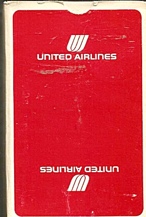United Airlines Playing Cards-Red Box- Mint Condition (Image1)