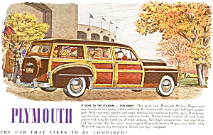 Plymouth Woody Wagon Ad In Color