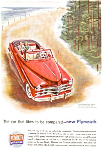 Plymouth Convertible Ad in Color ad0007 (Image1)