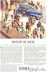 Lincoln Zephyr V-12 Ad ca 1940 (Image1)