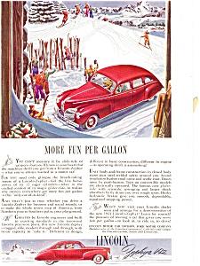 Lincoln Zephyr V-12 Ad ca 1941 (Image1)