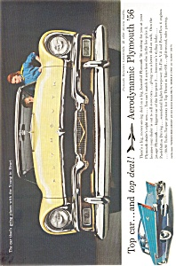 Plymouth Belvedere Convertible Ad 1956