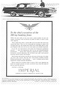 Chrysler Imperial Ad 1962 Ad0022