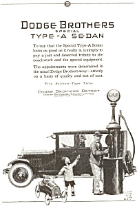 Dodge Type A Sedan AD ad0023  ca 1924 (Image1)